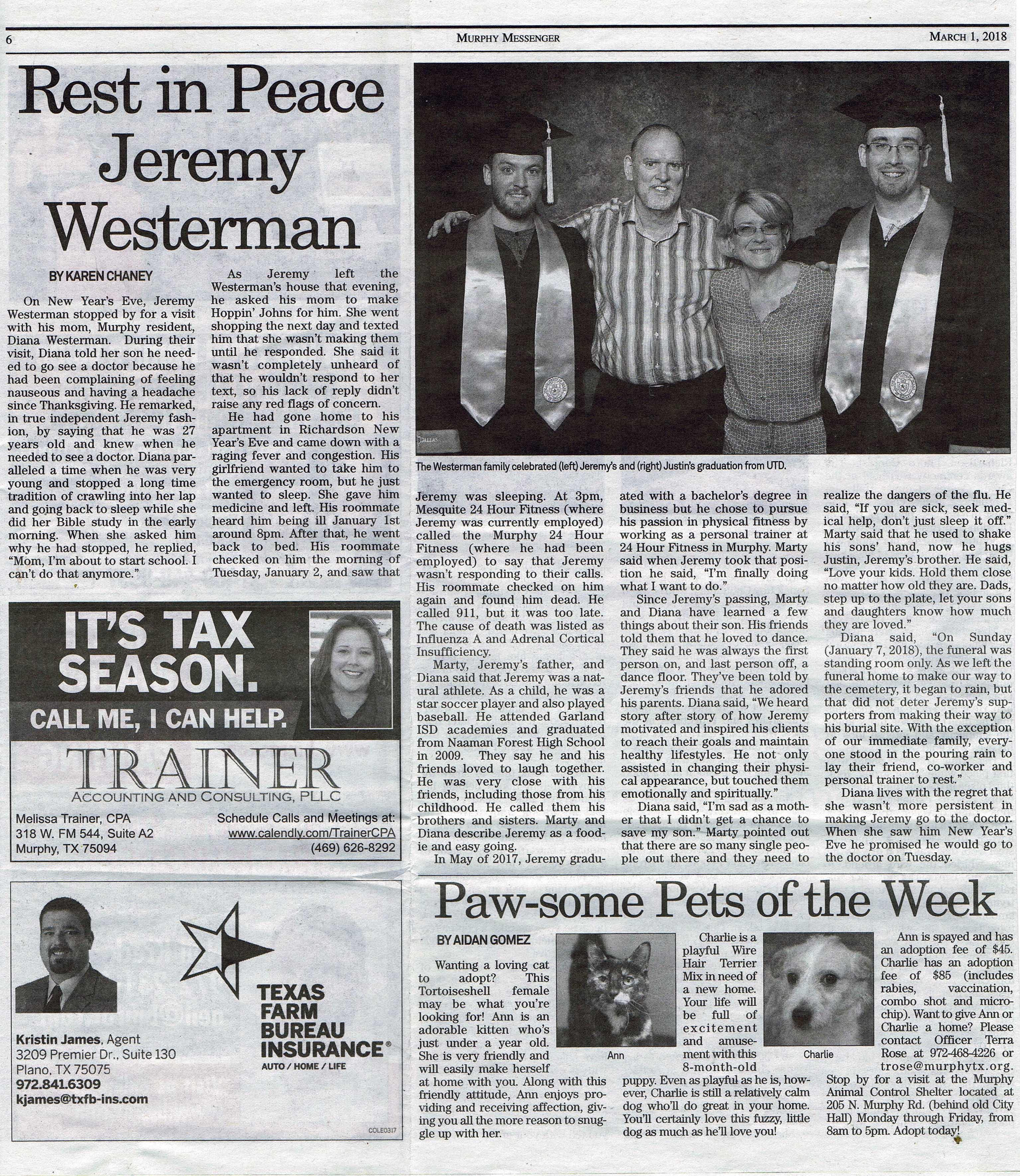 Murphy Messenger Newspaper 2018